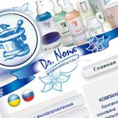 Створення сайту для продажу косметики Dr. Nona