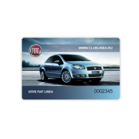 Дизайн пластикової картки для клубу FIAT LINEA
