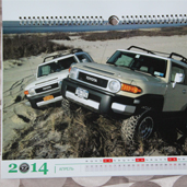 Дизайн та друк перекидного календаря для клубу Toyota FJ Cruiser 1