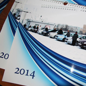 Дизайн календаря для клубу Fiat Linea