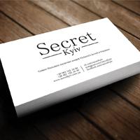 """Створення візитки для магазину жіночого одягу  """"Secret Kyiv"""""""