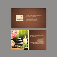 Дизайн та друк візиток для SPA салону