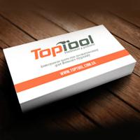 Дизайн та друк візиток для інтернет магазину Toptool