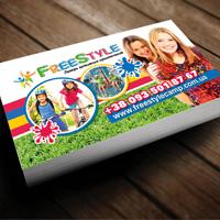 Створення та друк візитки для дитячого табору Freestyle