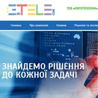 Створеня сайту для ТОВ «Євротелеком»