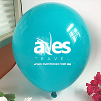 Друк на повітряних кульках для ТО  Aves Travel