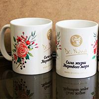 Дизайн та друк на чашках для компанії Dr. Nona