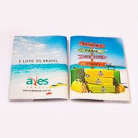 Друк логотипу Aves Travel на обкладинці закордонного паспорту