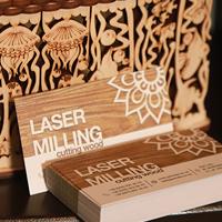Дизайн та друк візитки для лазерної різки по дереву