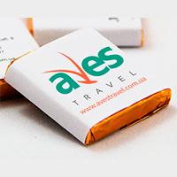 Дизайн етикеток для мінішоколадок з лого