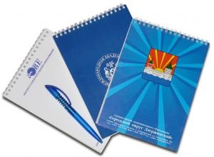 Печать блокнота с рекламой вашего бизнеса