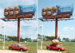 Художественное решение в наружной рекламе